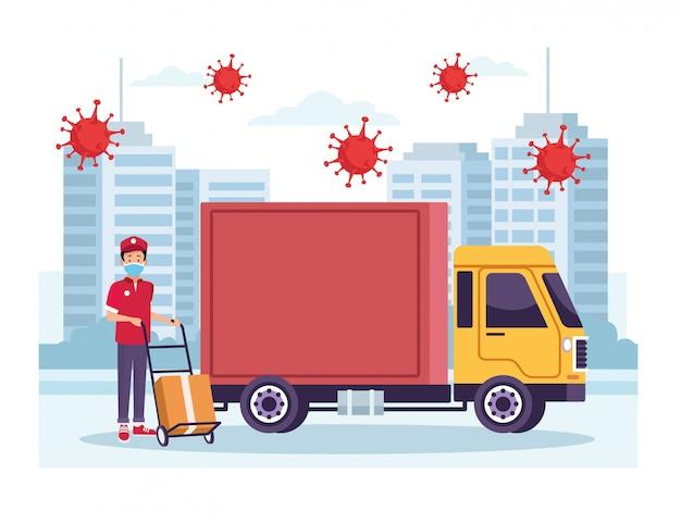 トラック配送サービス