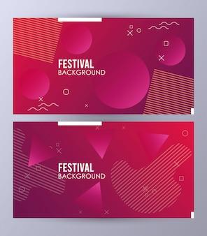 Круги красочный шаблон фона фестиваля