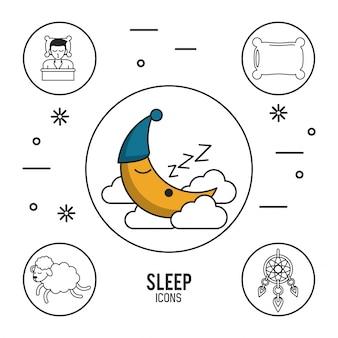 甘い夢と良い睡眠のインフォグラフィック
