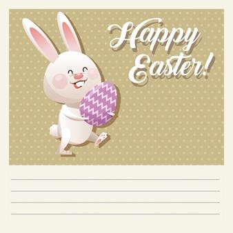 Мультфильм счастливый пасхальный кролик яйцо декоративный