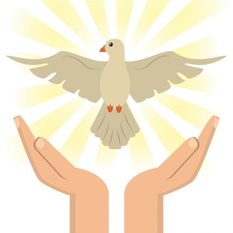 カトリック聖霊と手