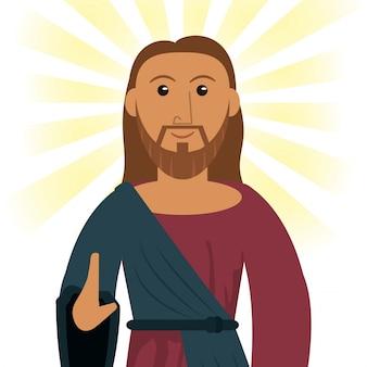 イエスキリストの献身霊的なイメージ