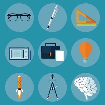 Значки творческих мультимедийных идей