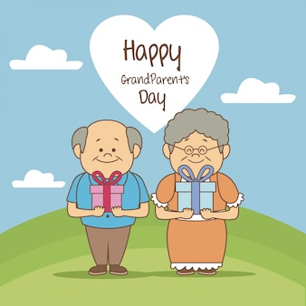 風景、風景、恋人、幸せ、幸せ、祖父母、日