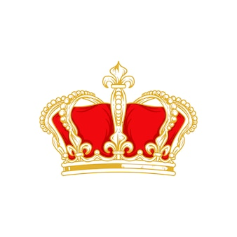 Корона и значок королевы