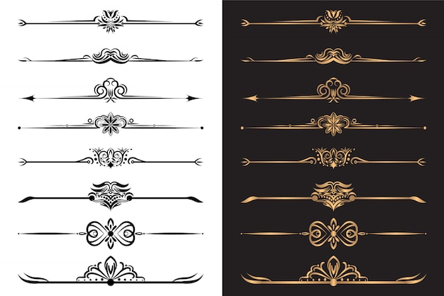 Роскошные декоративные элементы и набор декоративных перегородок