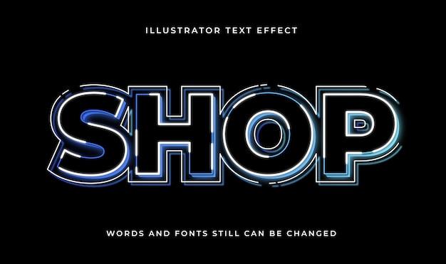 Красочный редактируемый современный текст со световым эффектом