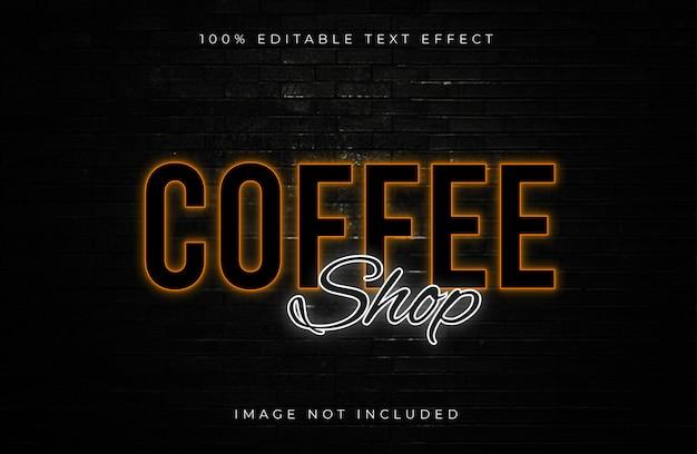 Кофейня редактируемый текстовый эффект