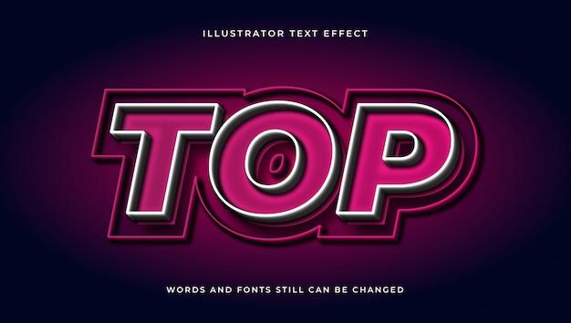 Современный редактируемый текст со световым эффектом