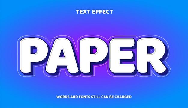 Бумага редактируемый текстовый эффект с градиентом