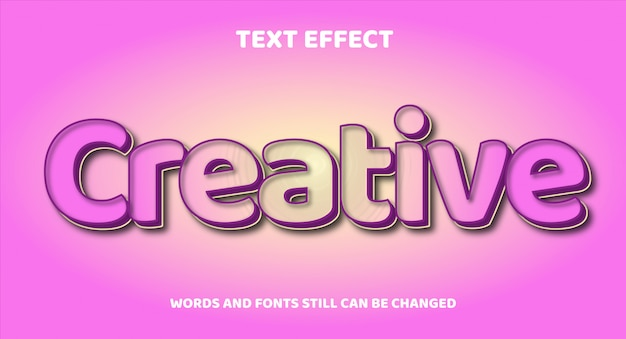 Творческий редактируемый текстовый эффект с