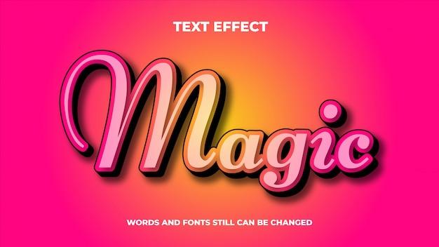 Волшебный редактируемый современный текстовый эффект