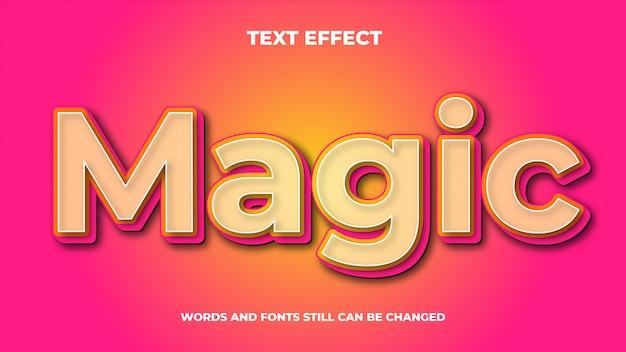 Волшебный редактируемый современный текст со световым эффектом