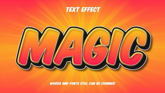 Волшебный редактируемый комический текстовый эффект
