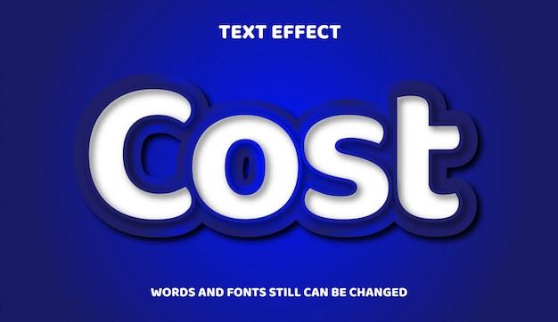 Белый и градиентный современный редактируемый текстовый эффект