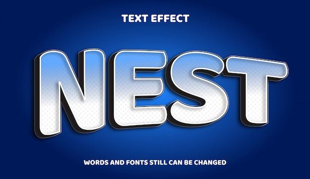 Гнездо редактируемый текст со световым эффектом