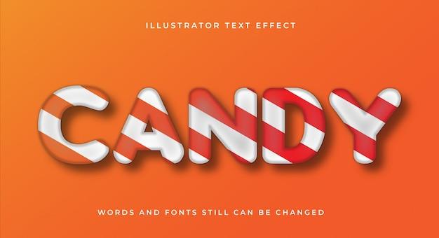 Современный конфетный текстовый эффект