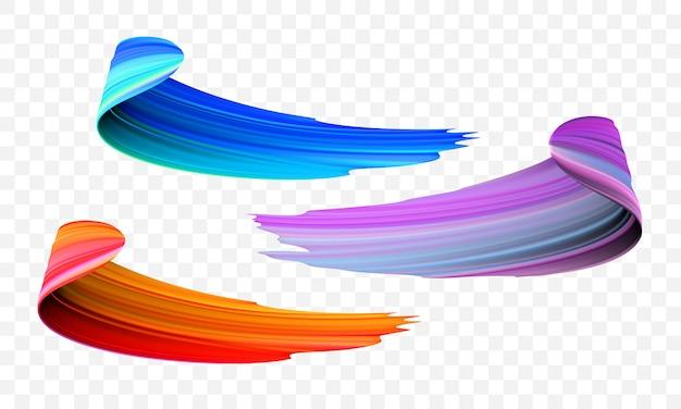 アクリルペイントブラシ色の抽象的なストローク