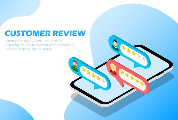 Отзывы клиентов. обратная связь. звездный рейтинг. инфографика для веб-страницы. изометрические.