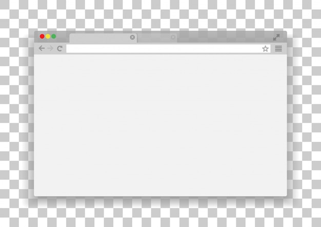 Простое окно браузера. интернет браузер.