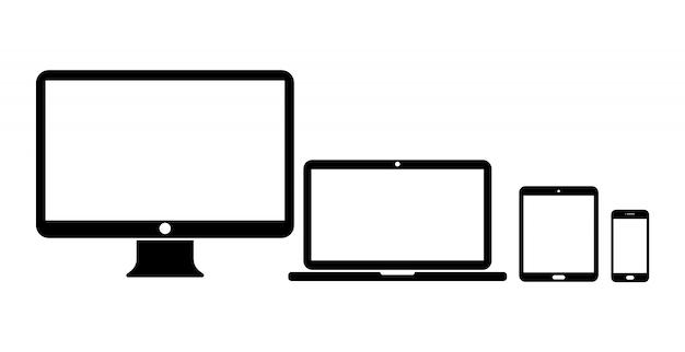 Экран устройства установлен на белом