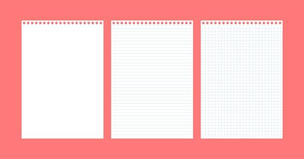 Чистые листы бумаги.