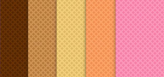 ウェーハのシームレスパターンのコレクション