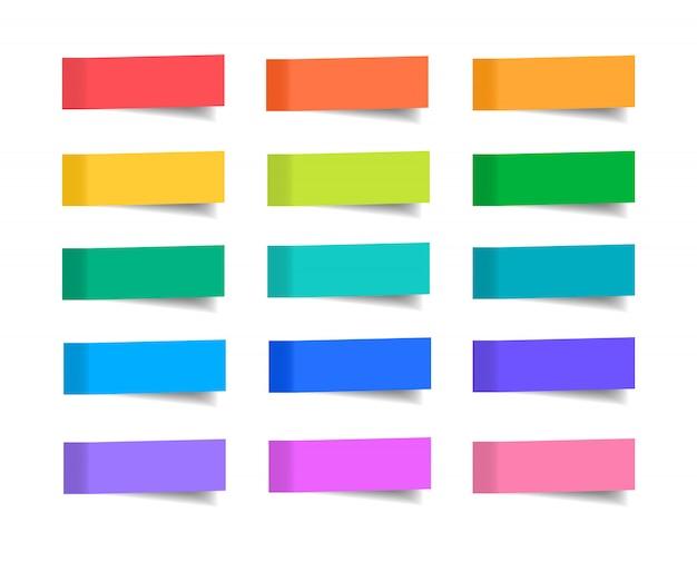 Набор наклеек для заметок. иллюстрация