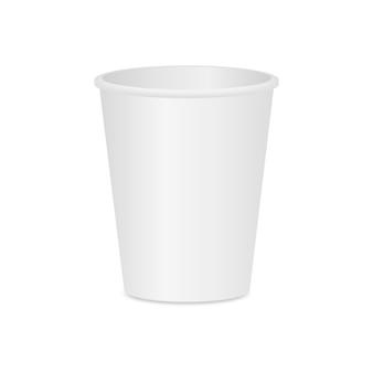 コーヒーまたは紅茶用のカップ。レイアウトカップ。