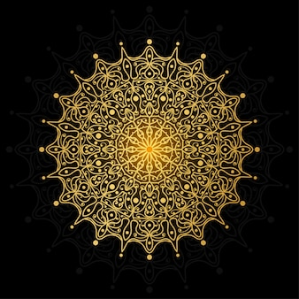 豪華なマンダラ。エスニックオリエンタル、インド風の一時的な刺青の花の装飾。落書き飾り。概要手描きイラスト。