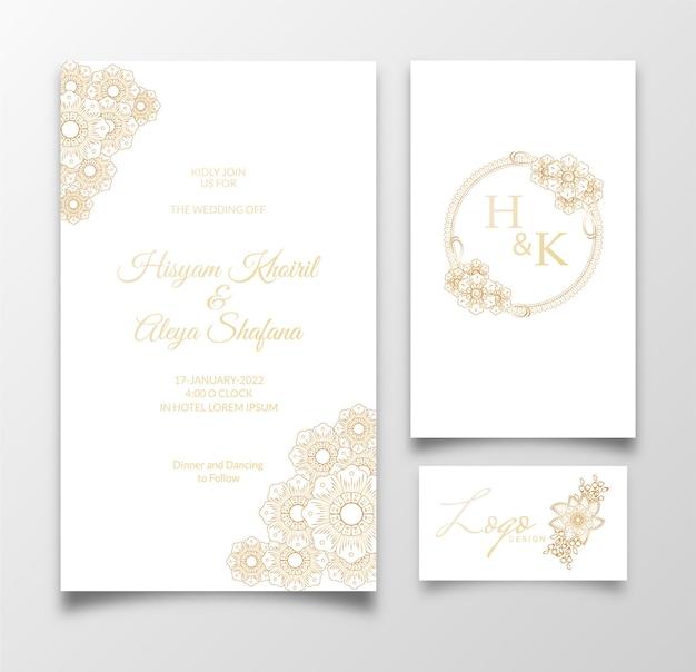 Шаблон приглашения свадебные карточки с цветочным декором. цветочная иллюстрация.