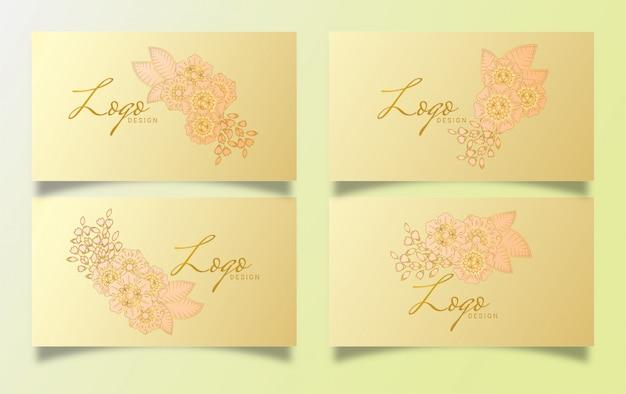 Роскошный дизайн визитной карточки с цветочным дизайном