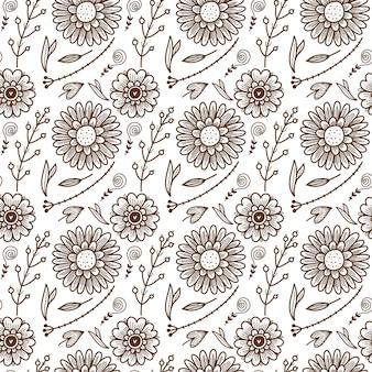 Узор из эскизов цветов