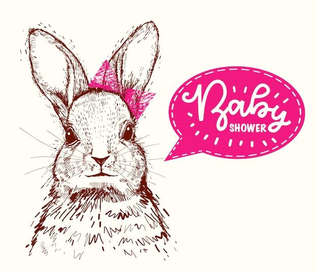 かわいい流行に敏感なウサギ