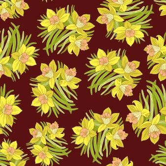 春の花模様の配置
