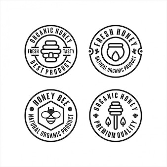 Органический мед лучший логотип продукта