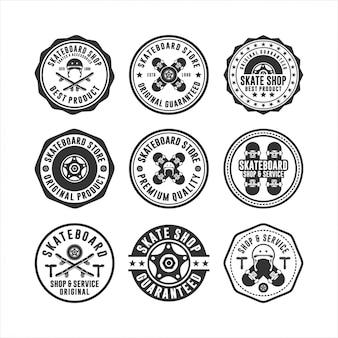 Скейтборд магазин штампов логотипов коллекций