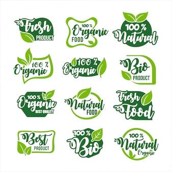 Коллекция этикеток для органических продуктов питания