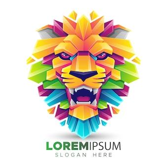 ライオンヘッドのロゴのテンプレート