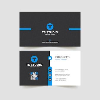 企業のビジネスカードのデザインテンプレート