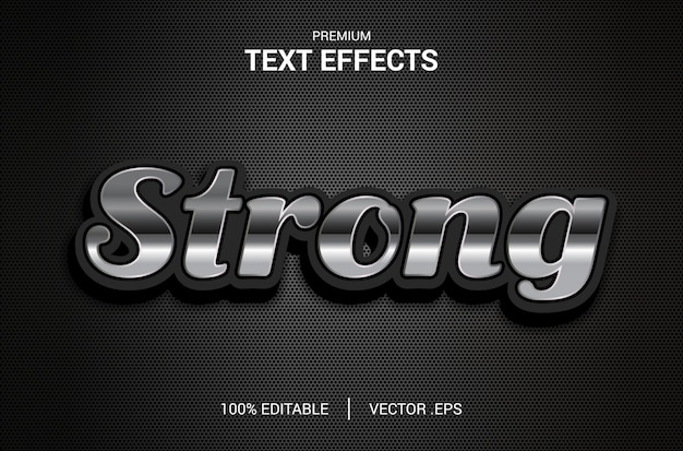 強力なテキスト効果、エレガントな抽象的な強力なテキスト効果、強力なテキストスタイルの編集可能なフォント効果の設定