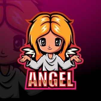 Ангел талисман киберспорт иллюстрация