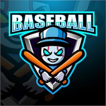 Бейсбол талисман киберспорт иллюстрация