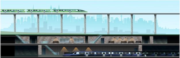 Метро и новый современный город