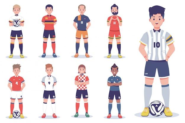 サッカー選手キャラクターコレクション
