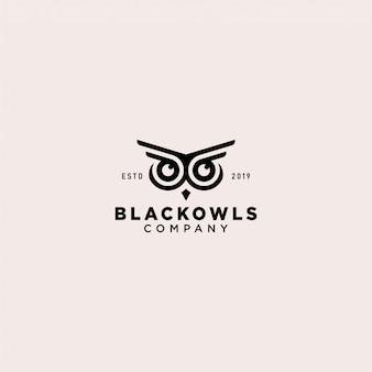 フクロウのロゴのテンプレート