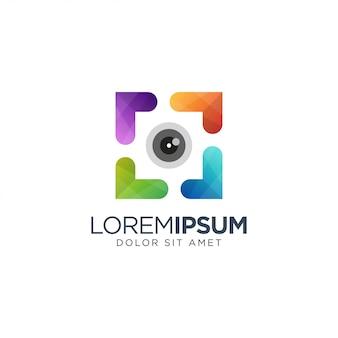 Красочная фотография логотип