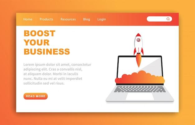 ビジネスランディングページテンプレートを強化する