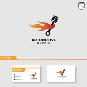 車サービスベクトルのロゴデザイン