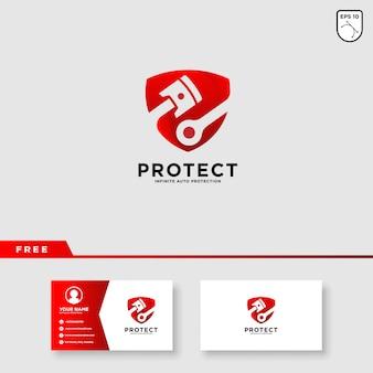 Дизайн логотипа защиты автомобиля